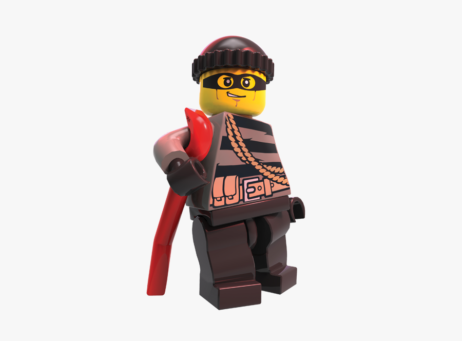 Official Site Lego City - Lego City Robbers Characters, Transparent Clipart