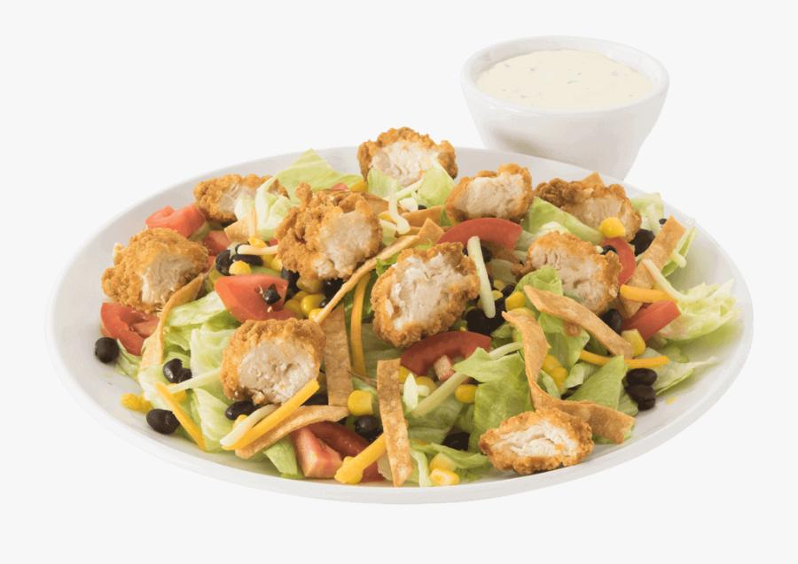 Transparent Chicken Salad Clipart - Ensalada Con Pollo Frito, Transparent Clipart