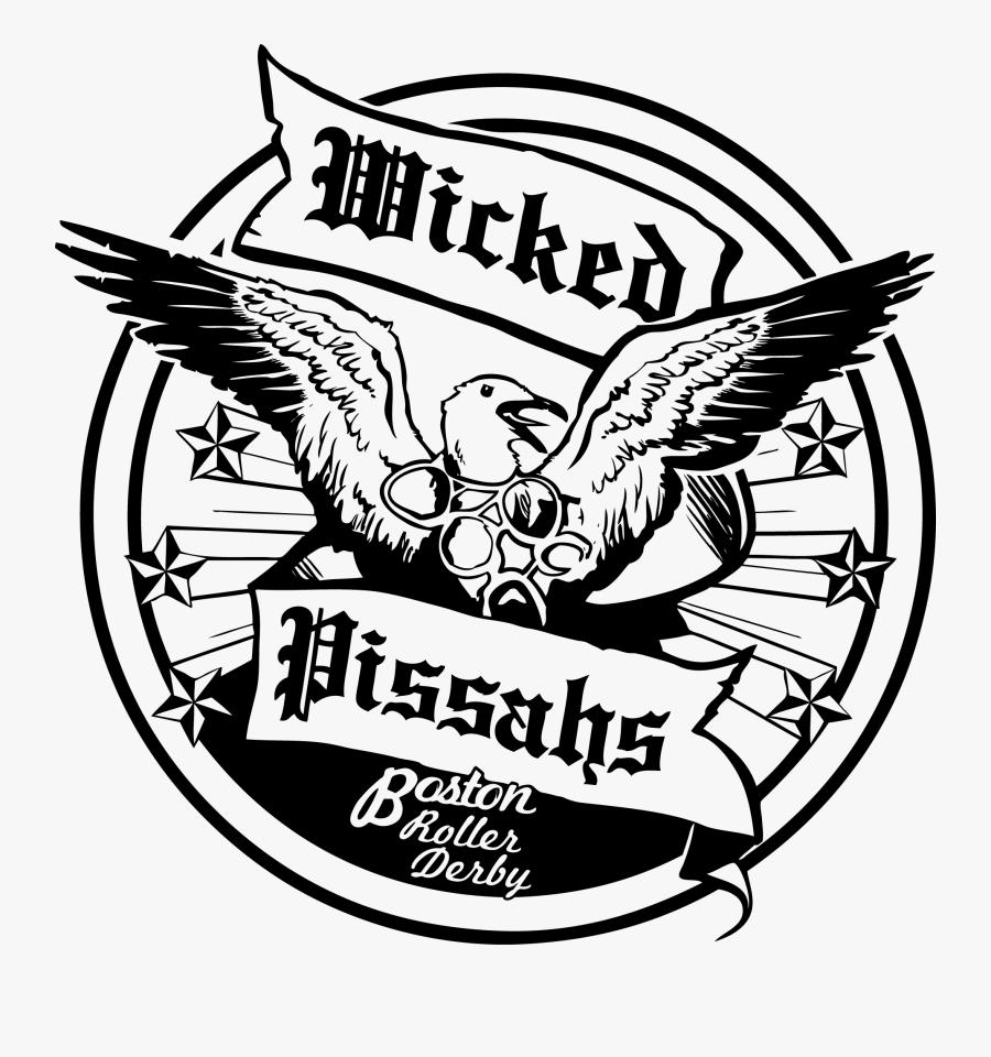 Boston Roller Derby Wicked Pissahs, Transparent Clipart
