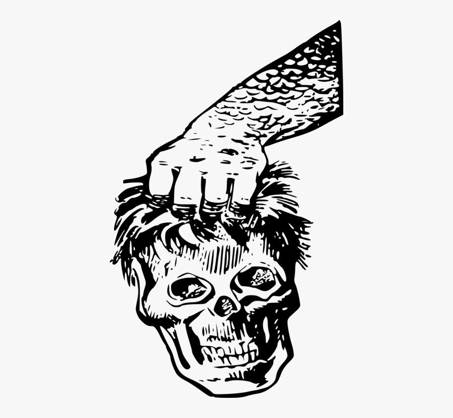 Art,monochrome Photography,headgear - Skull, Transparent Clipart