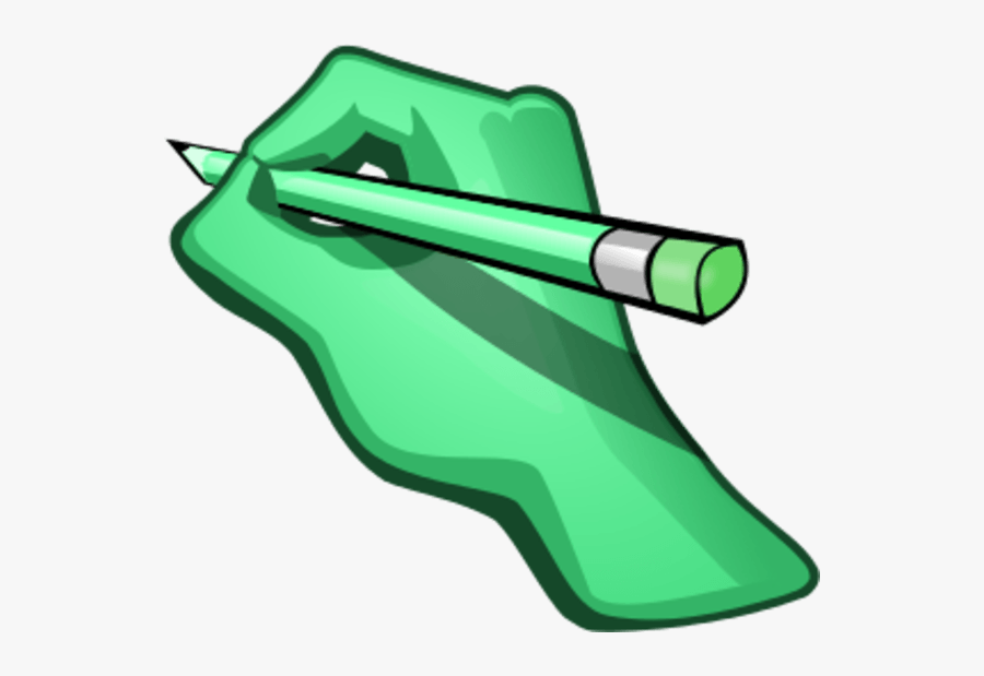 Hand Pencil Cliparts - Hand With Pencil Animation, Transparent Clipart