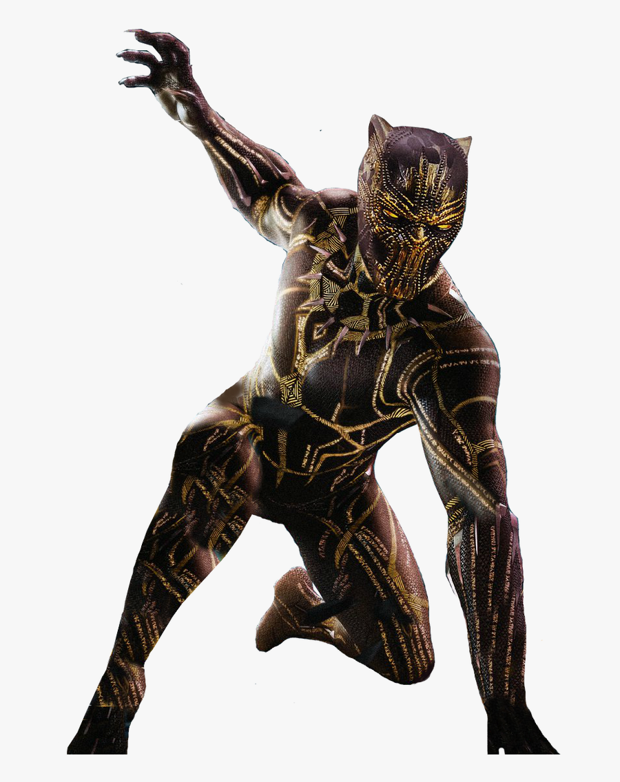 Golden Jaguar Black Panther, Transparent Clipart