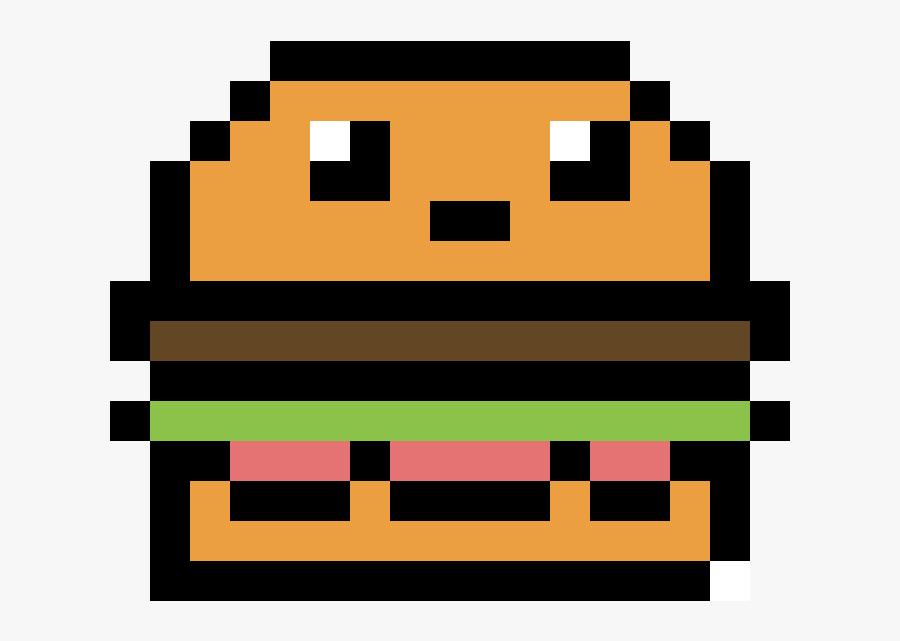 Kawaii Burger Pixel Art Free Transparent Clipart Clipartkey