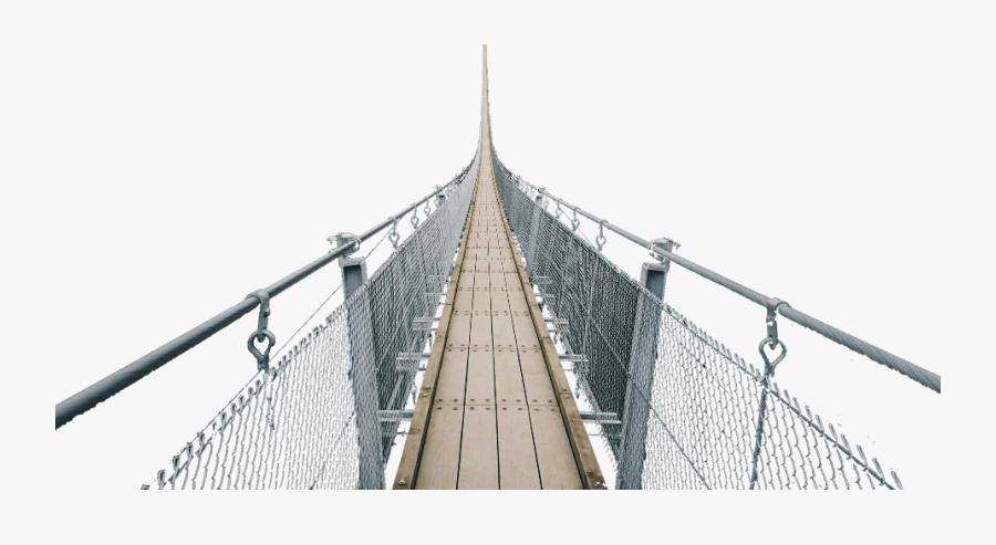 Transparent Suspension Bridge Clipart - Self-anchored Suspension Bridge, Transparent Clipart