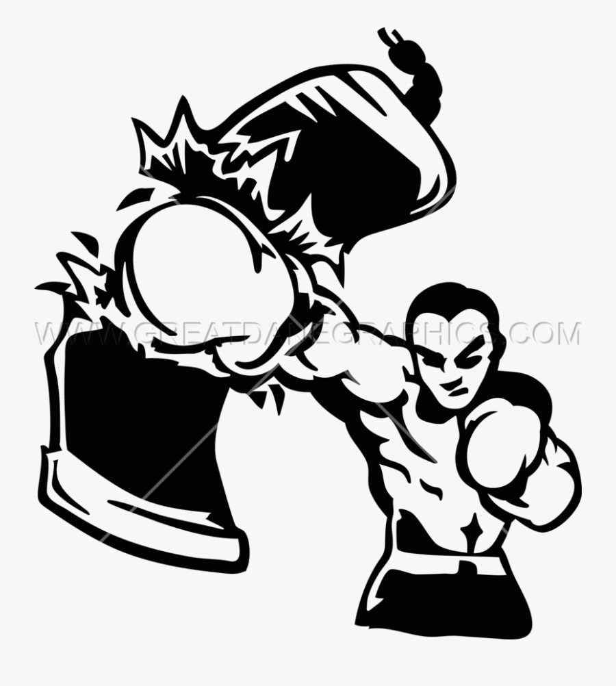 Boxing Clipart Punching Bag - Punching Bag Boxing Clipart, Transparent Clipart