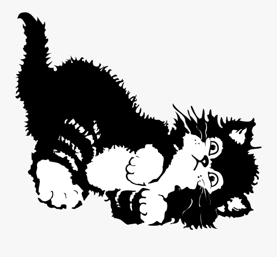 Illustration Of A Kitten Playing - Love My Cat Meme, Transparent Clipart