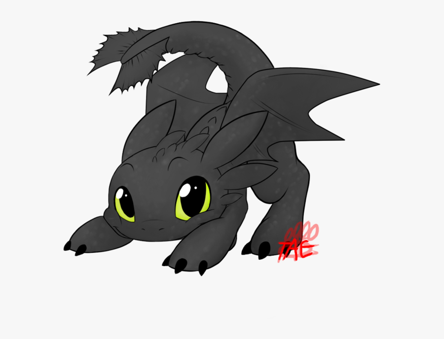 Love Toothless Acts Just Like My Cat ^ ^ - Toothless The Dragon Drawing Easy, Transparent Clipart