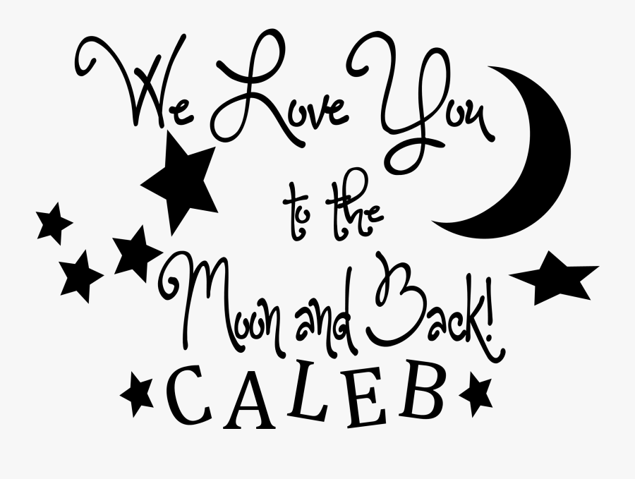 Clip Art Love You To The Moon And Back Clip Art - Transparent Background Star Png, Transparent Clipart