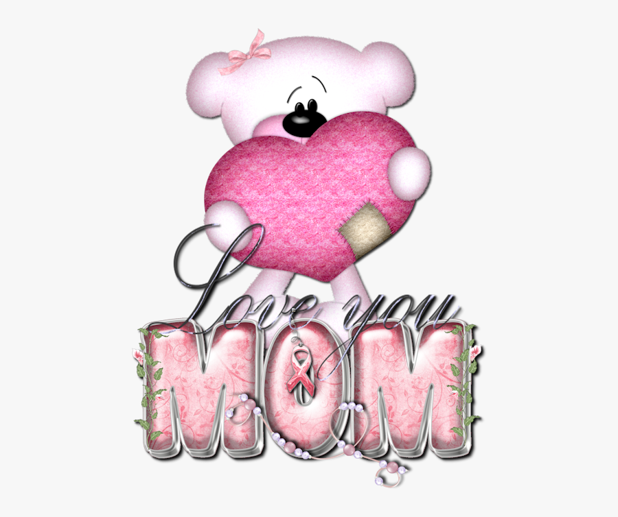 Transparent I Love You Mom Clipart - Love You Mom In Glitter, Transparent Clipart