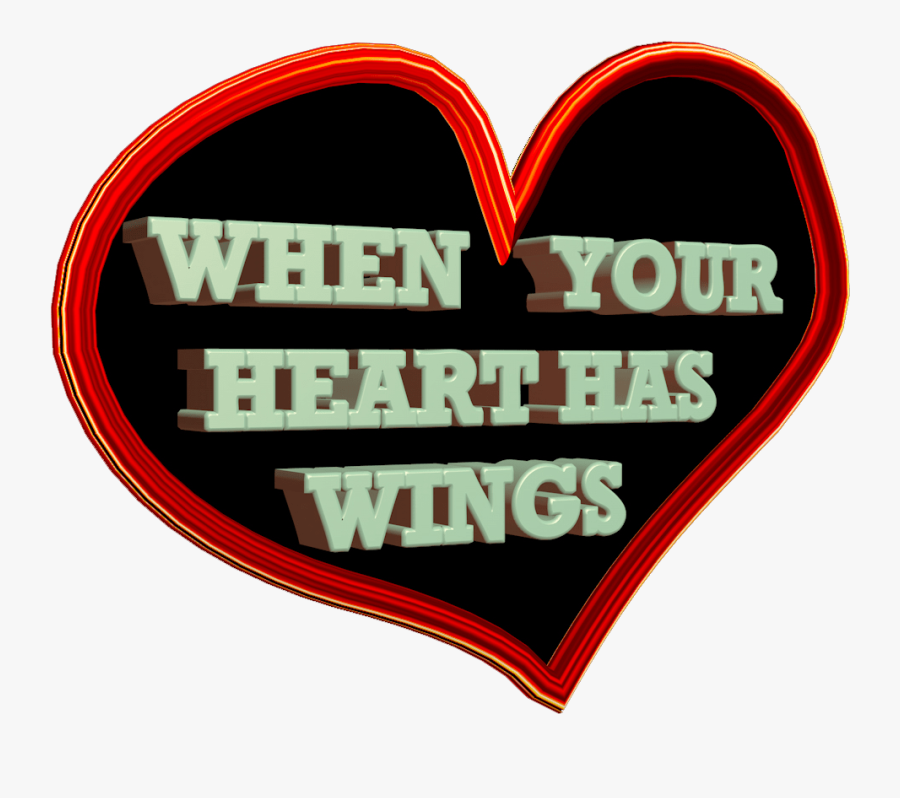 Transparent Heart With Wings Png - Portable Network Graphics, Transparent Clipart