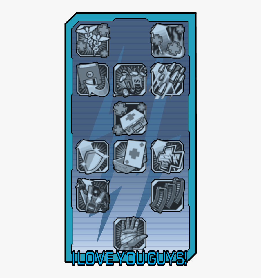 Transparent I Love You Png - Claptrap I Love You Guys Skill Tree, Transparent Clipart