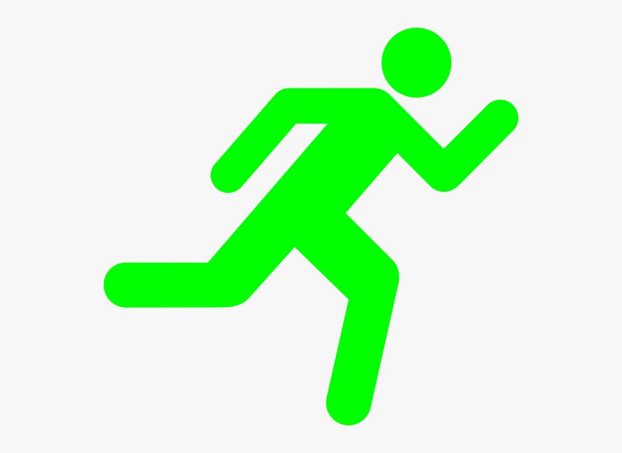 Clip Art Green Stickman - Running Stick Figure, Transparent Clipart
