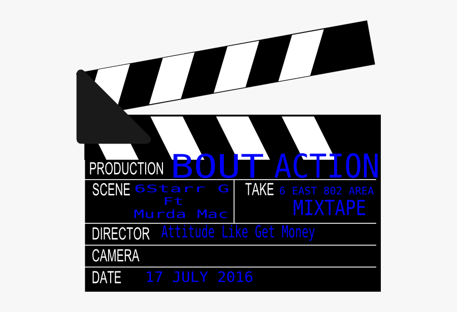 Movie Clapper Board, Transparent Clipart