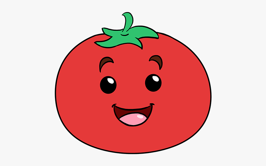 How To Draw Tomato - Easy Drawing Of Tomatoes, Transparent Clipart