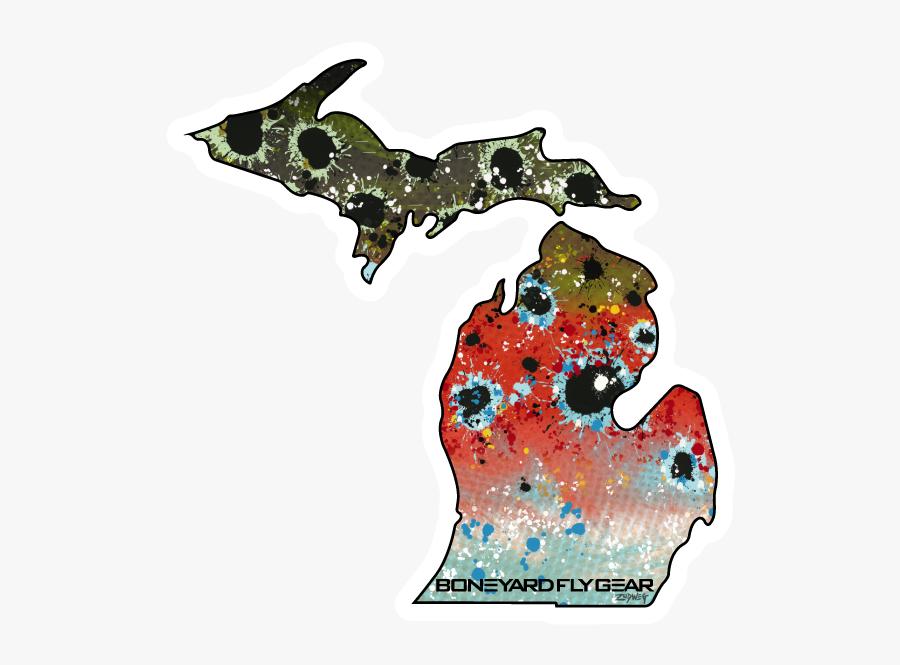 Michigan Rainbow Trout - 810 Area Code Map, Transparent Clipart