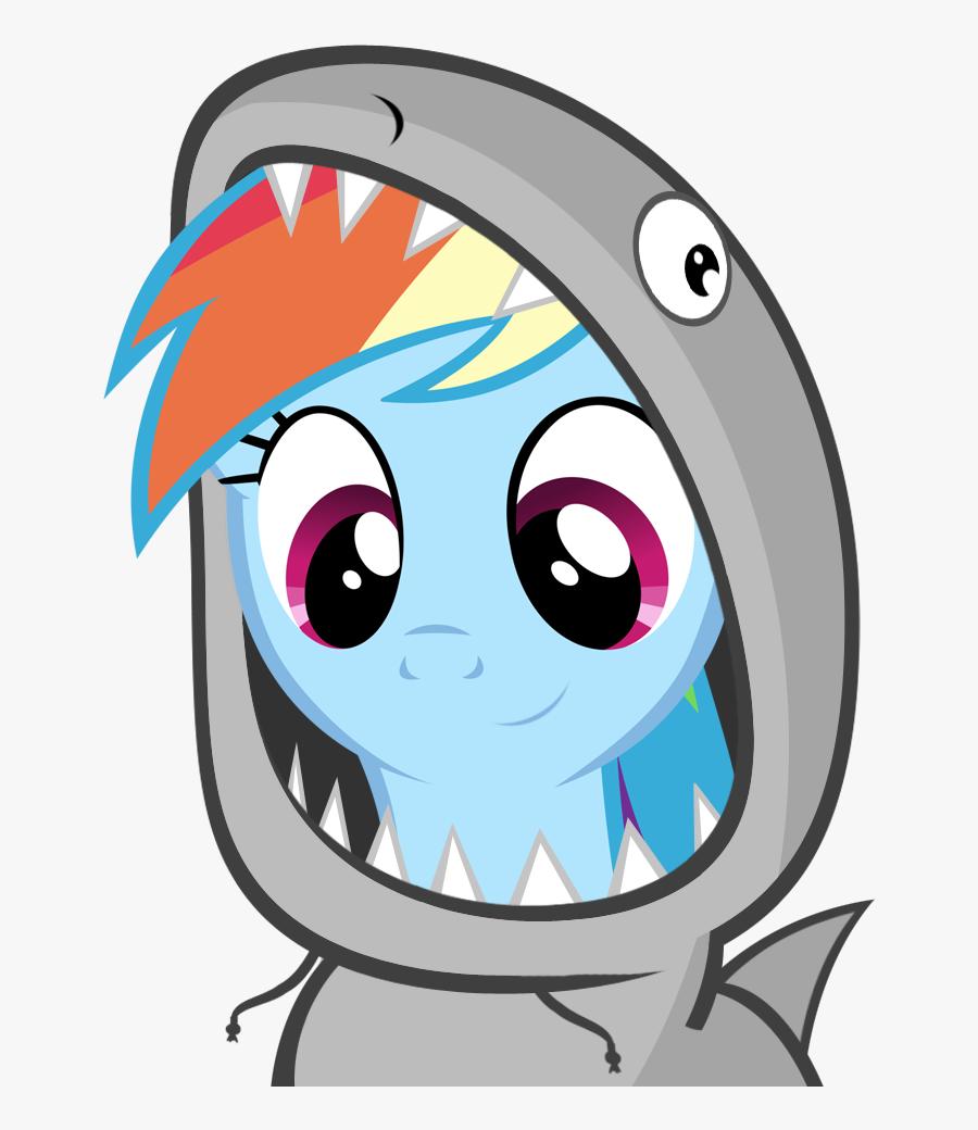 Cute, Dashabetes, Fins, Great White Shark, Hoodie, - Rainbow Dash My Little Pony Gif, Transparent Clipart