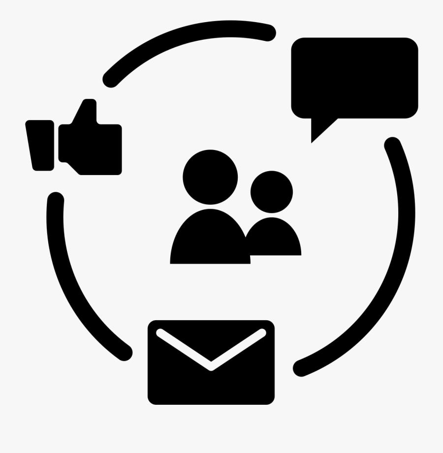 Black And White - Digital Marketing Icon Black, Transparent Clipart