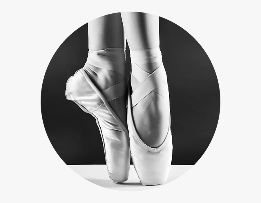 Ballet Pointe Shoes Black And White, Transparent Clipart