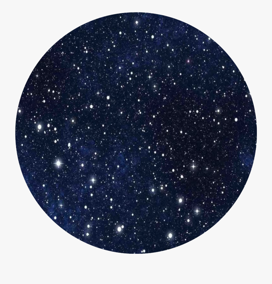 #blue Night Starry Sky Circle - Outer Space, Transparent Clipart