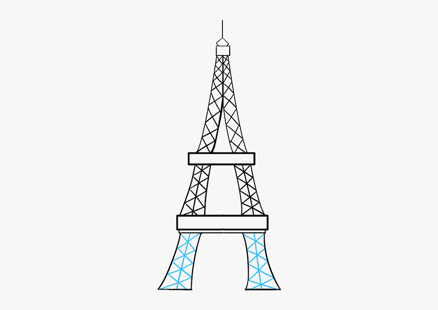 Easy Eiffel Tower Sketch, Transparent Clipart