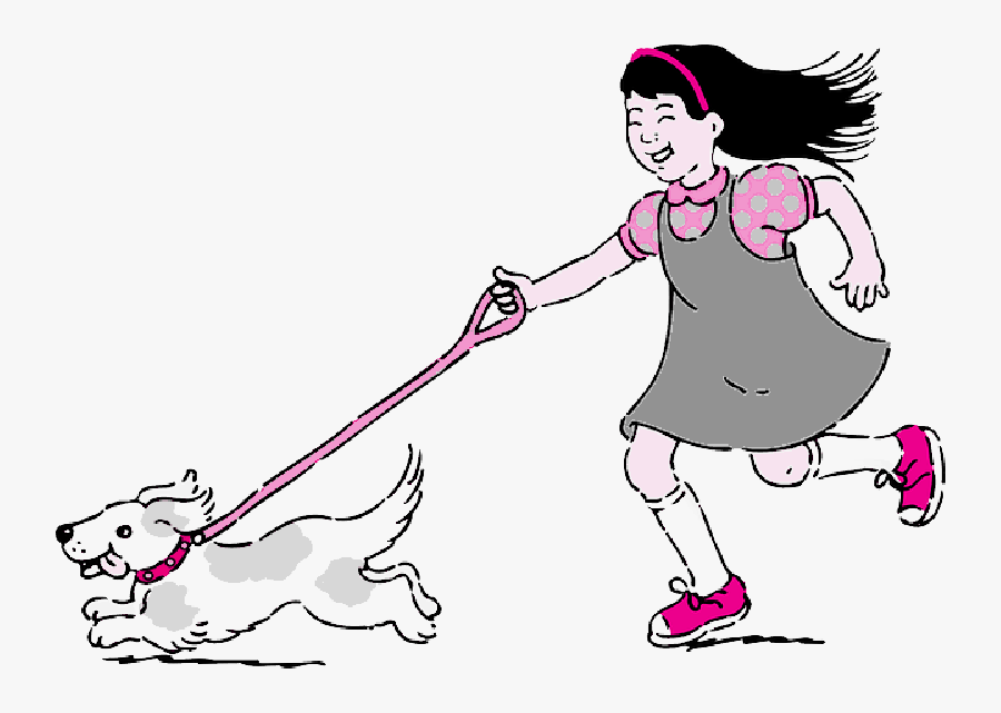 Walk The Dog Clipart - Take The Dog For A Walk, Transparent Clipart