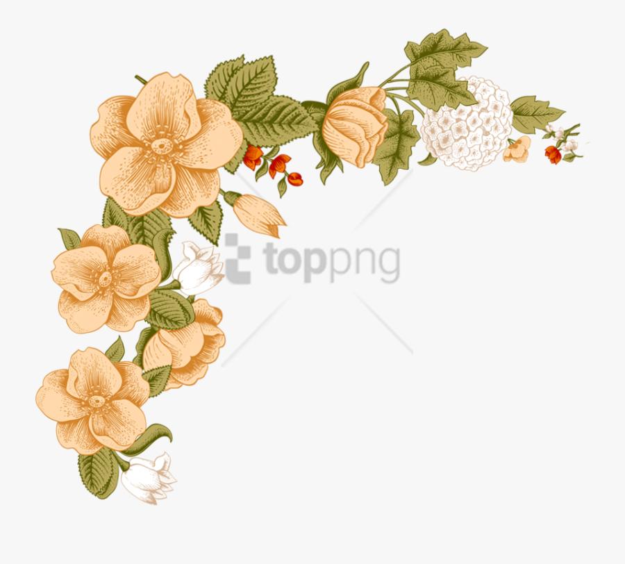 Free Png White Flower Frame Png Image With Transparent - Floral Border Design Png, Transparent Clipart