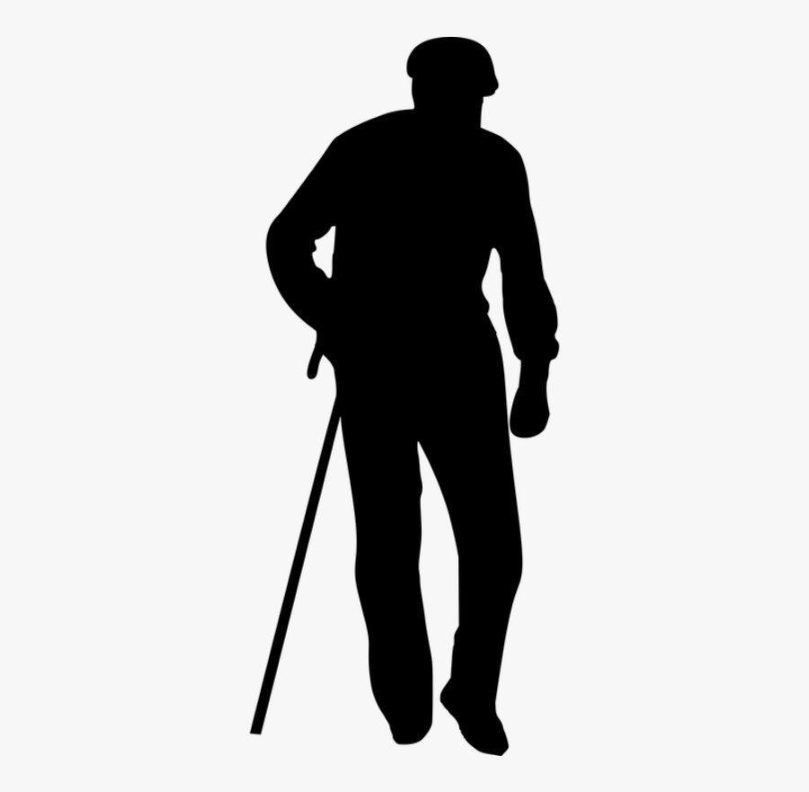 Old Man Silhouette Png, Transparent Clipart