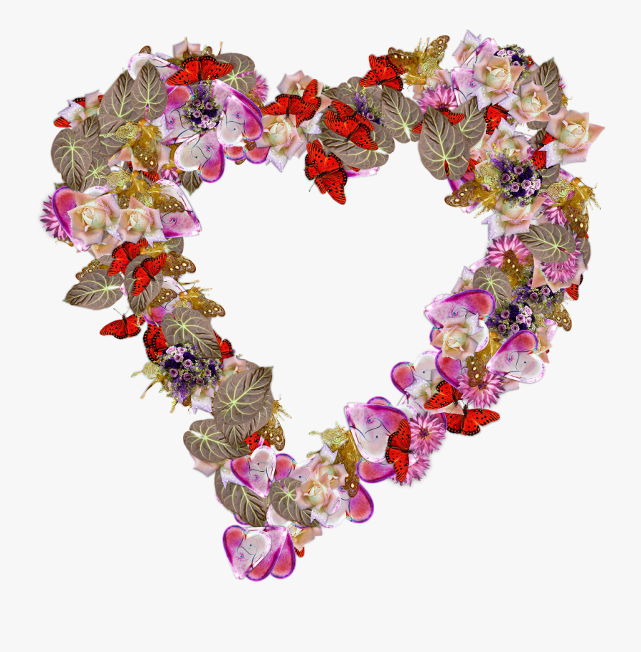 #lovestickers #love #heart #nature #flower #floral - Transparent Heart Flowers, Transparent Clipart