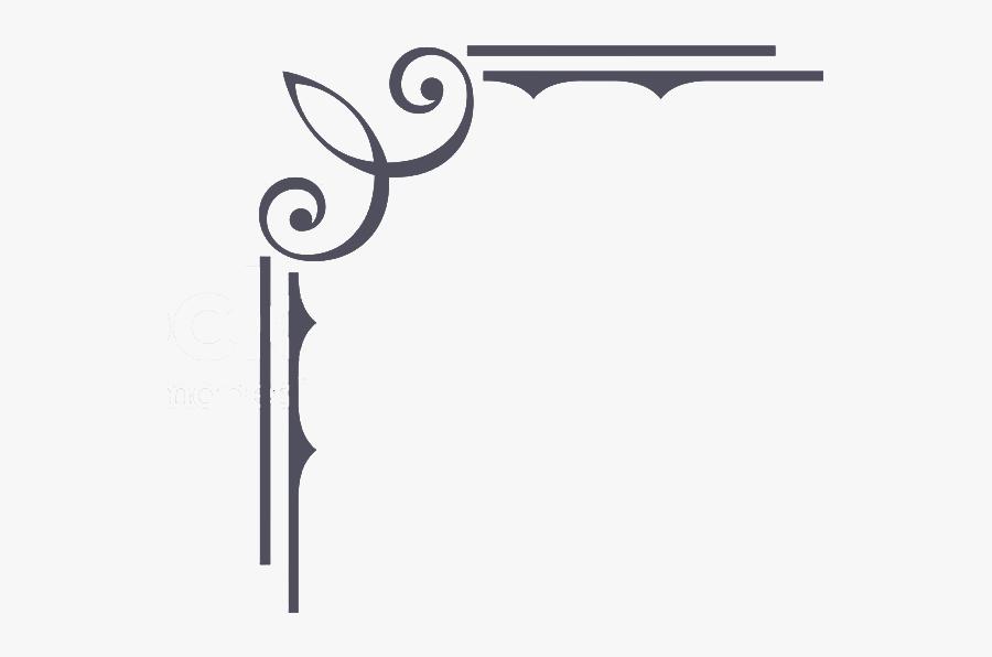 Calligraphy Border Png -vintage Border Png Ornamental - Border Line Design Vector, Transparent Clipart