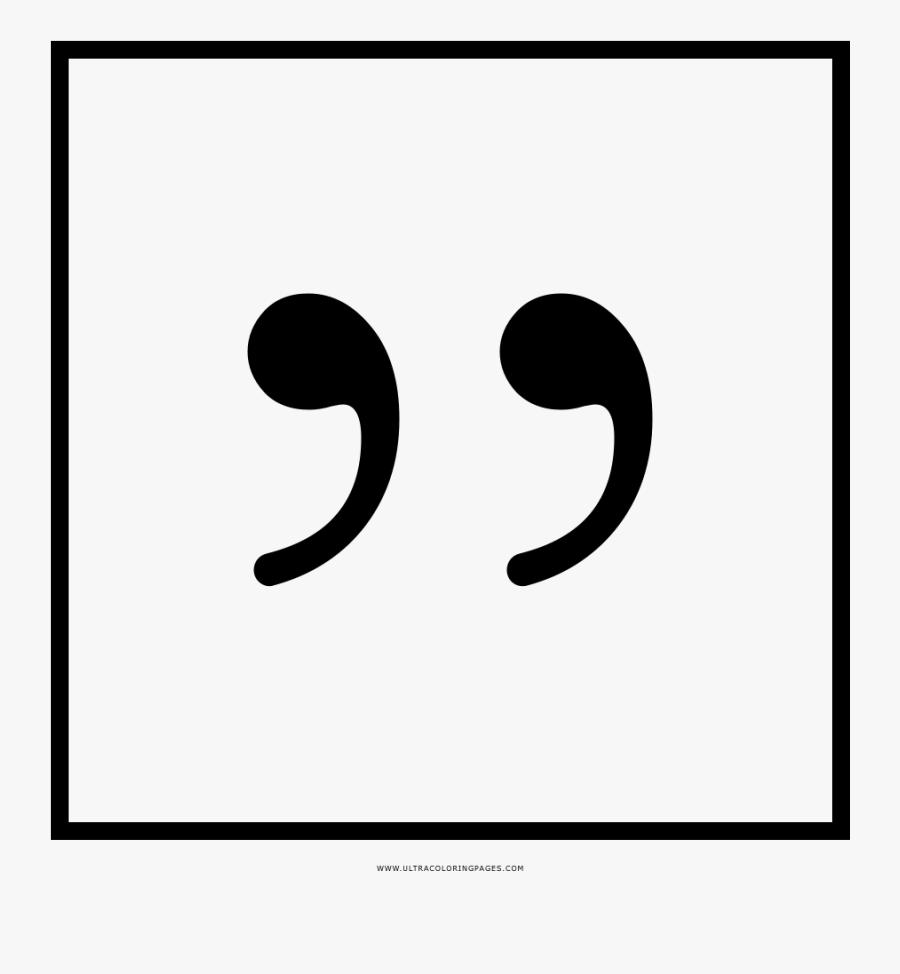 Transparent Transparent Quotation Marks Png - Monochrome, Transparent Clipart