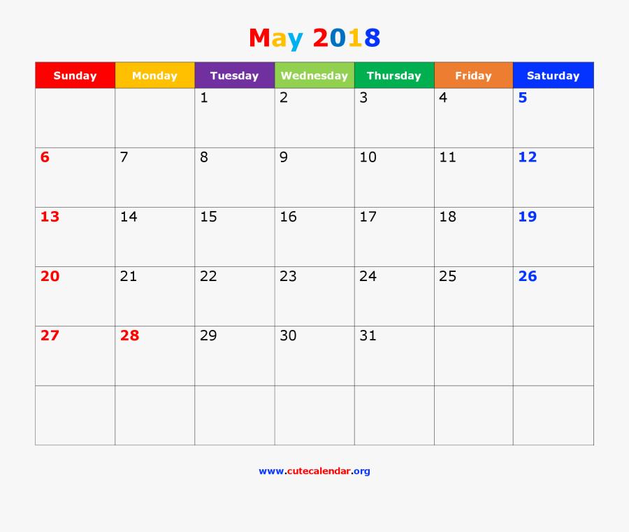 Transparent December Month Clipart - Calendar For November 2018 Printable, Transparent Clipart