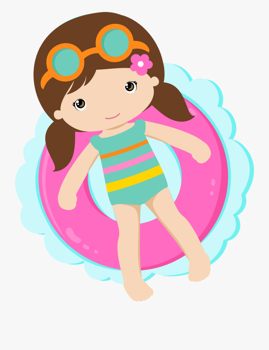 Pool Party Girl Png, Transparent Clipart