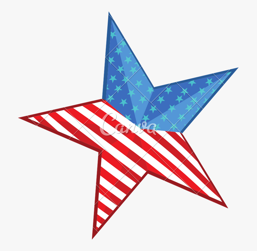 Shiny Star In American Flag Colors - Relay For Life Cancer Research Uk Logo Png, Transparent Clipart