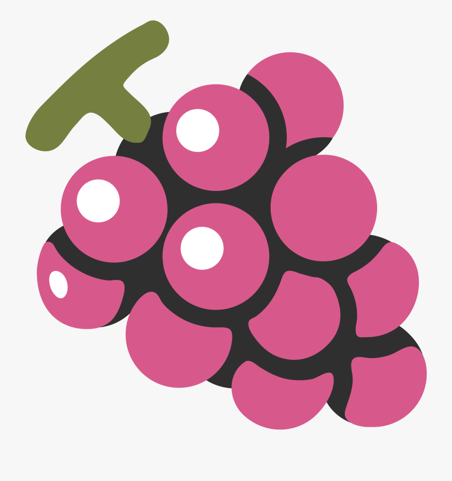 Clip Art Grapes Emoji - Android Fruit Emoji, Transparent Clipart