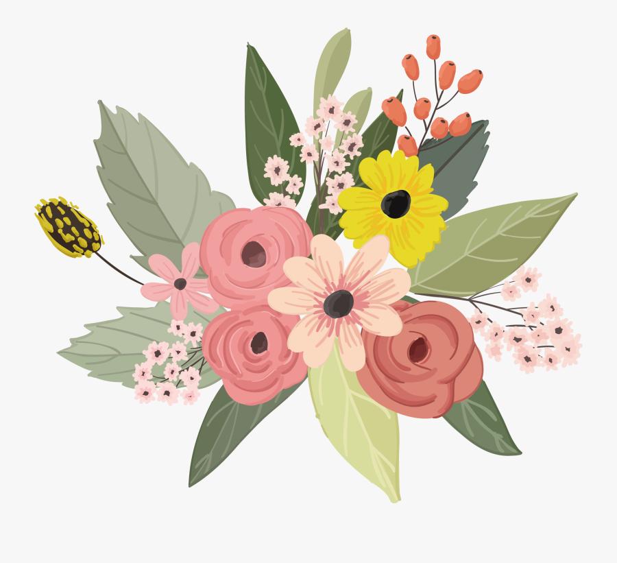 Flower Floral Design - Floral Flower Vector Png, Transparent Clipart