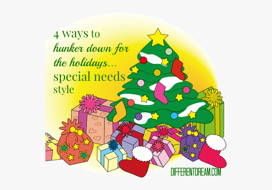 Want To Create A Calm, Special Needs Holiday Season - Christmas Tree With Gifts Clipart, Transparent Clipart