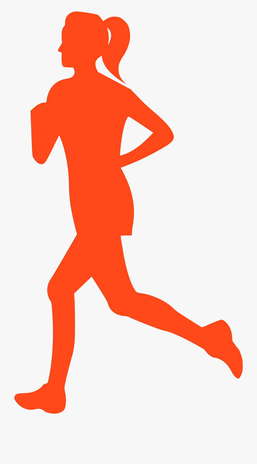Transparent Athletic Girl Clipart - Woman Running Clipart, Transparent Clipart