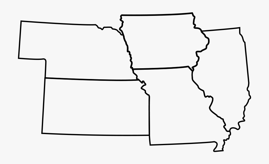 Transparent Lewis And Clark Expedition Clipart - Map Of Missouri Kansas Iowa Nebraska, Transparent Clipart