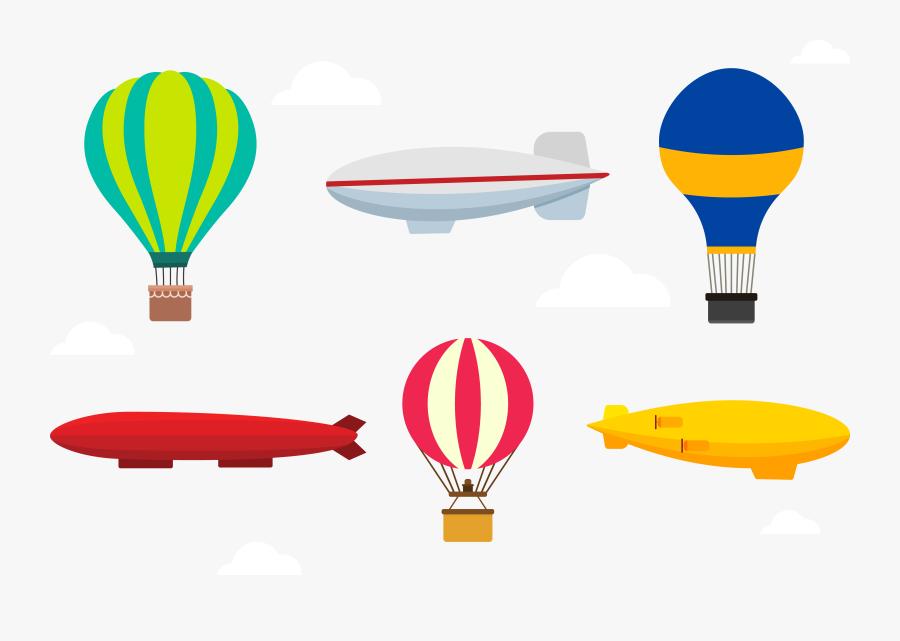 Clip Art Transparent Balloon Rocket Set Transprent - Hot Air Balloon, Transparent Clipart