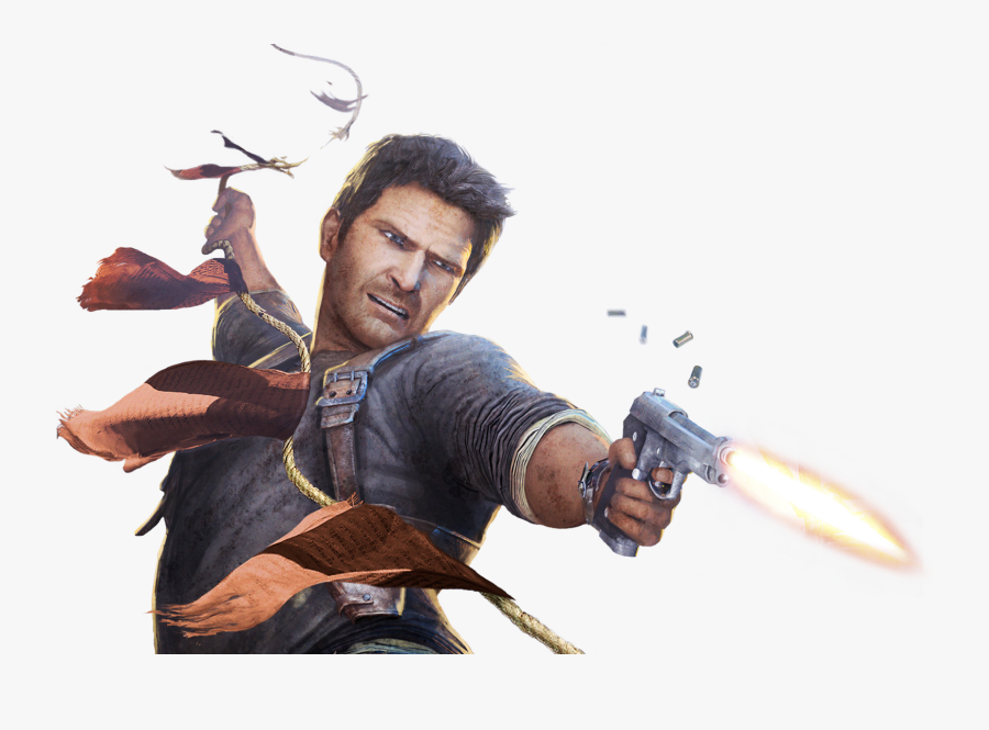 Download Nathan Drake Png Pic - Uncharted 2 Among Thieves Game, Transparent Clipart