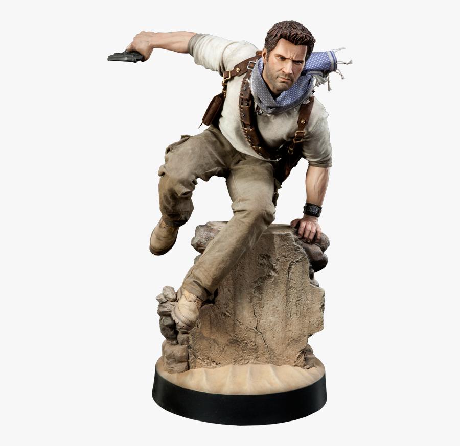 Nathan Drake Transparent Png - Uncharted Nathan Drake Statue, Transparent Clipart