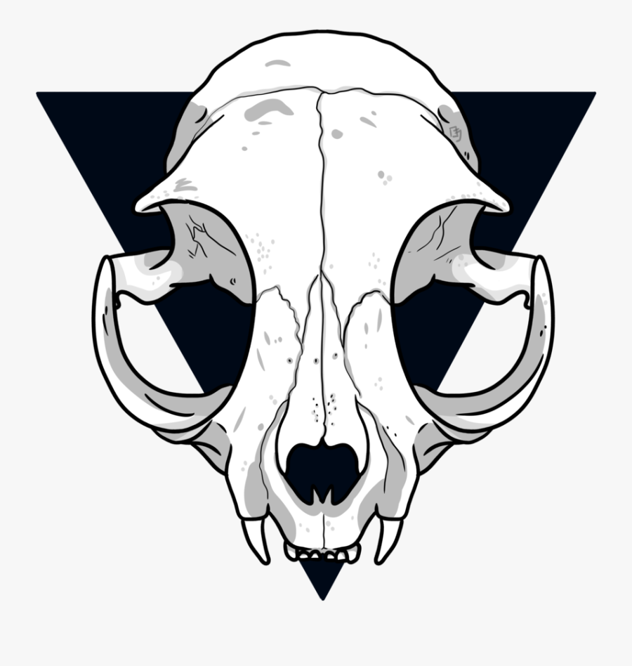 Animal Jam Clans Wiki - Simple Cat Skull Drawing, Transparent Clipart