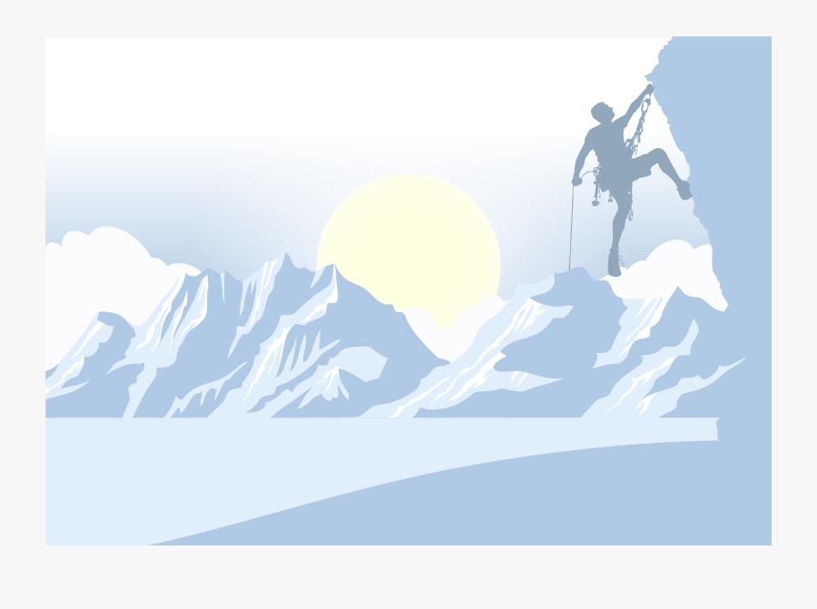 Graphic Design Mountain Euclidean Vector Silhouette - Climbing Snow Vector, Transparent Clipart
