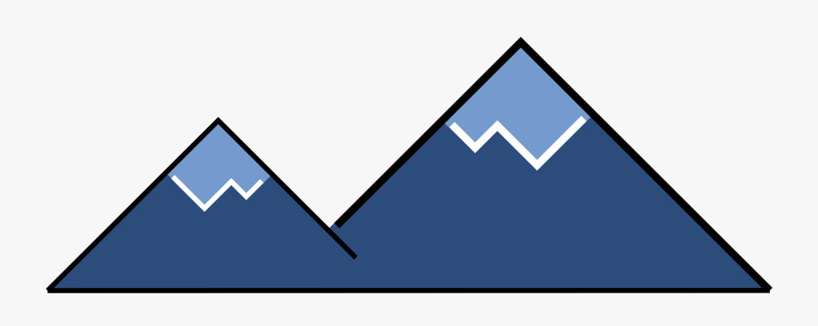 Minimal Icon Big Image - Mountain Minimal Icon, Transparent Clipart