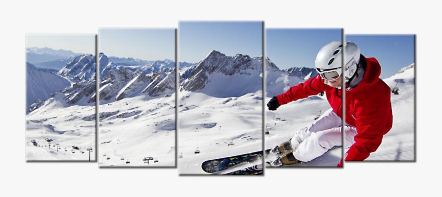 Transparent Snow Mountain Png - Mountain Ski Hd, Transparent Clipart