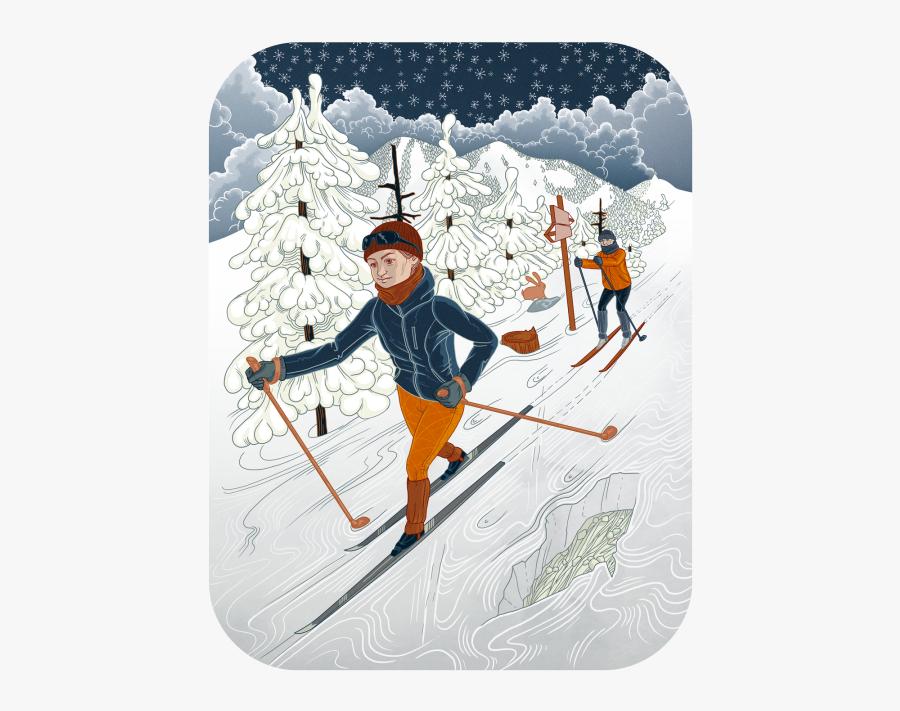 Nordic Skiing, Transparent Clipart
