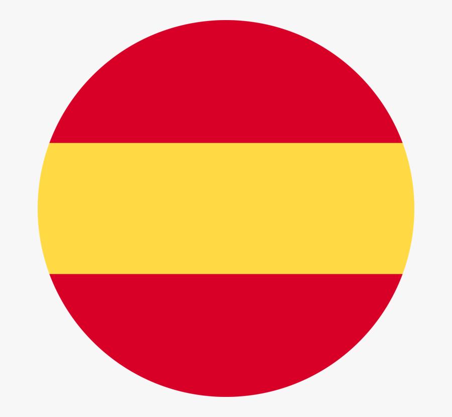 Magenta,area,yellow - Spain Flag Round Icon, Transparent Clipart