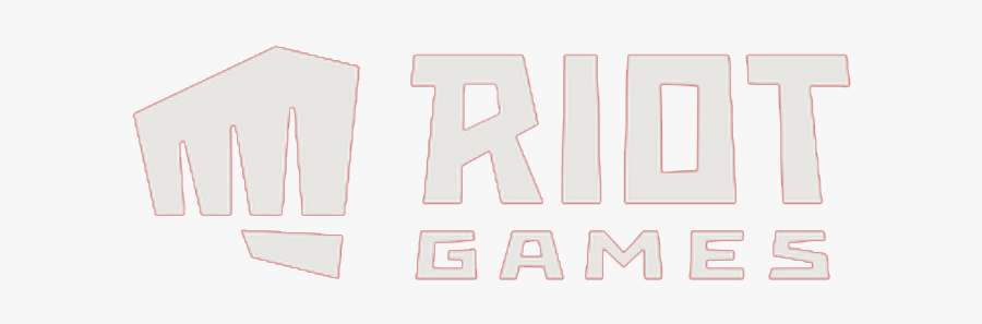 Riot Games New Logo With Red Outline Png Image - Riot Games Logo Png, Transparent Clipart