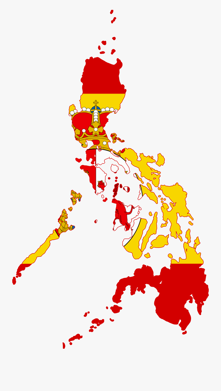 Transparent Spanish Flag Png - Flag Map Of The Philippines, Transparent Clipart