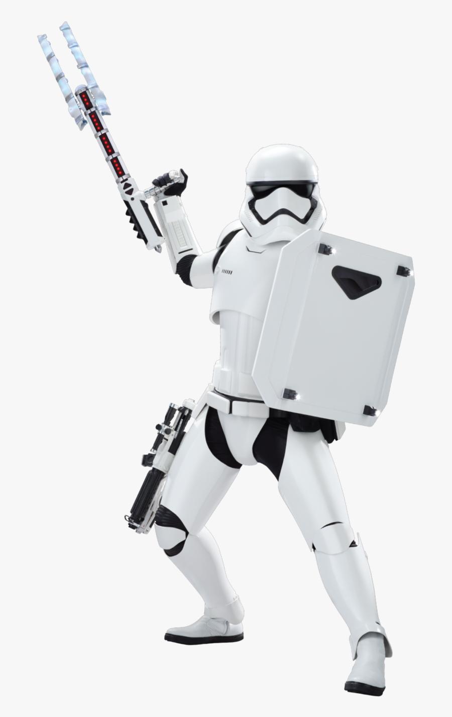 Transparent Storm Trooper Clipart - First Order Riot Control Stormtrooper, Transparent Clipart